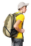 A teenager with a sporty backpack Royalty Free Stock Photos