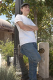 Teenager standing casually royalty free stock image