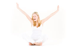 Teenager stretching Royalty Free Stock Images