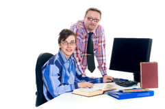Teenager student doing homework Royalty Free Stock Image