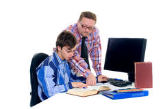 Teenager student doing homework Royalty Free Stock Photography