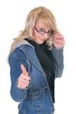 Teenager student okay gesture Stock Images