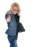 Teenager student okay gesture Stock Photography