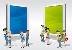 Teenager students Stock Image