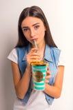 Teenager studio shooting Royalty Free Stock Photo