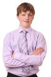 Teenager in suit Stock Photo