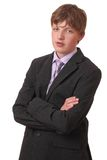 Teenager in suit Royalty Free Stock Photos