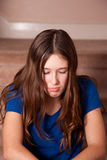 Teenager sulking Royalty Free Stock Photo