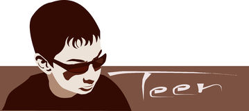 Teenager with Sunglasses Royalty Free Stock Photography