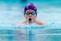 Teenager Swimming Race Goggles  Stock Images