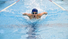 Teenager swimmer royalty free stock photography