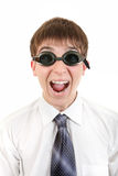 Teenager in Swimming Goggles Royalty Free Stock Image