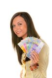 Teenager with Swiss Francs Stock Images