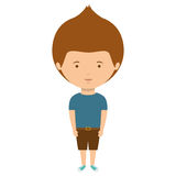 Teenager with t-shirt and shorts Royalty Free Stock Photo