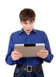 Teenager with Tablet Computer Stock Photos