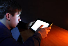 Teenager with Tablet Computer Royalty Free Stock Photography