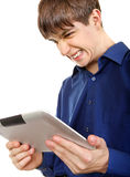 Teenager with Tablet Computer Royalty Free Stock Photos