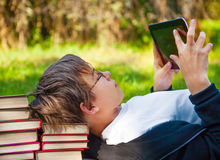 Teenager with Tablet Computer Stock Photo