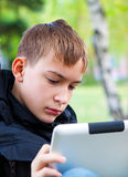 Teenager with Tablet Computer Royalty Free Stock Images
