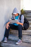 Teenager with Tablet Computer Stock Photography