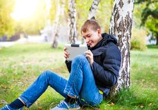 Teenager with Tablet Computer Royalty Free Stock Photo