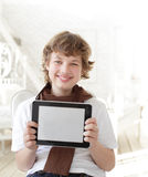 teenager with tablet pc indoors Stock Photography