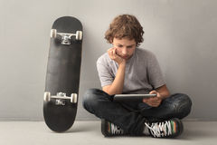 Teenager with tablet pc Stock Photo
