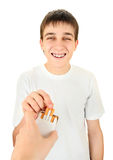 Teenager take a Cigarette Royalty Free Stock Photography