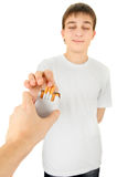 Teenager take a Cigarette Stock Images