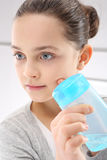 Teenager takes care of hygiene Royalty Free Stock Photo
