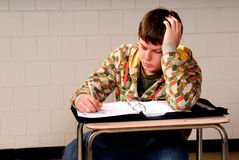 Teenager Taking Notes Royalty Free Stock Photography