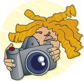 Teenager taking photo Stock Photos