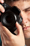 Teenager Taking Pictures Royalty Free Stock Photography