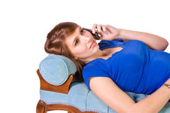 Teenager Talking on the Cell Phone Stock Image