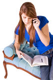 Teenager Talking on the Cell Phone Stock Images