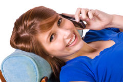 Teenager Talking on the Cell Phone Royalty Free Stock Images