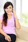Teenager talking on the handphone Royalty Free Stock Photos