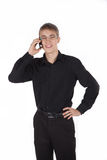 Teenager talking on the phone fun Royalty Free Stock Image