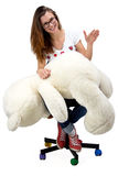 Teenager with teddy bear Royalty Free Stock Images