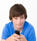 Teenager texting Stock Images