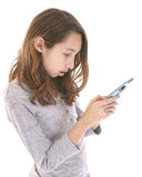 Teenager texting Stock Photo