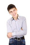 Teenager thinking Royalty Free Stock Photography