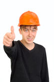 Teenager with thumb up Stock Images