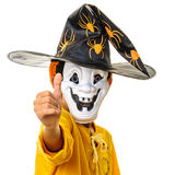 Teenager thumb up Halloween outfit Royalty Free Stock Photo