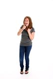 Teenager with Thumbs Up Stock Image