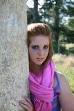 Teenager timido fotografia stock libera da diritti