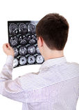 Teenager with Tomography Royalty Free Stock Image