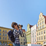 Tourist in Wroclaw Royalty Free Stock Images