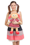 Teenager with toy. Royalty Free Stock Image