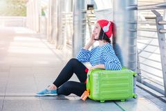 Teenager travel in the city, stock image